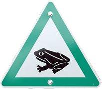 Warnschild Krötenwanderung