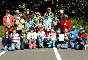 Die Schülerinnen und Schüler der Grundschule Mülheim siegten beim Kreisentscheid der Jugendverkehrsschule in Thalfang.