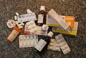 Foto von Altmedikamenten