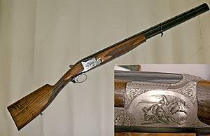 Zahlreiche Waffen wie zum Beispiel die gezeigte Bockdoppelflinte FN Herstal mit Jagdgravuren werden am 1. März versteigert.