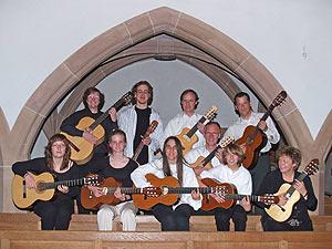 Gruppenbild des Gitarrenensembles Allegristas