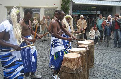Gruppen aus Mali und Ruanda sorgten für eine tolle Stimmung in der Wittlicher Altstadt.