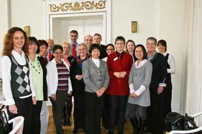 Landrätin Beate Läsch-Weber gemeinsam mit den Integrationsbeauftragten in Rheinland-Pfalz im Wittlicher Kreishaus.