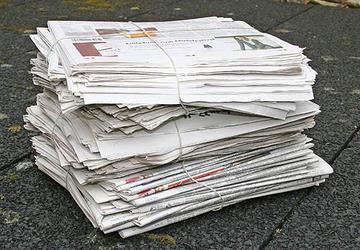 Ein Bündel Altpapier.