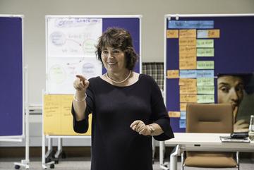 Elisabeth Porz schulte die Seniortrainer für ihren Einsatz.