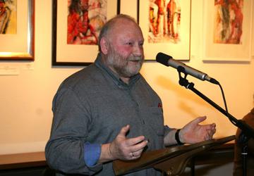 Helmut Eichhorn am Rednerpult.