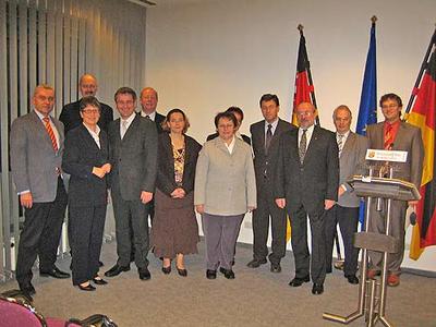 Gruppenbild mkt Mitgliedern der LAG Erbeskopf, LAG Hunsrück, LAG Mosel und LAG Vulkaneifel.