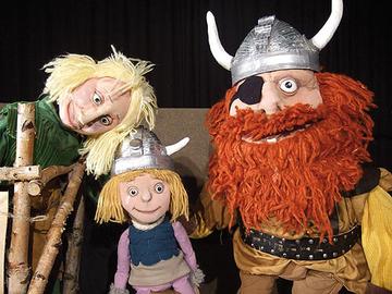 Die Handpuppen Wickie und die starken Männer erzählen in Wittlich ihre sehr witzige und spannende Geschichte.