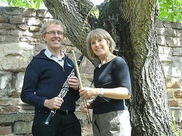 Irmgard Brixius, Querflöte und Ulrich Junk, Klarinette bilden das Duo Luftikuss
