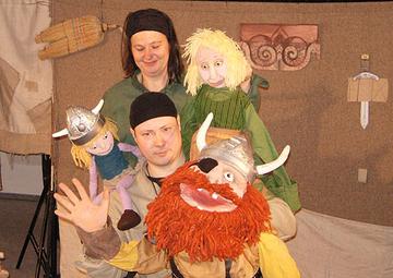 Die Spieler Carsten Dittrich und Claudia Olma vom Marotte-Figurentheater.