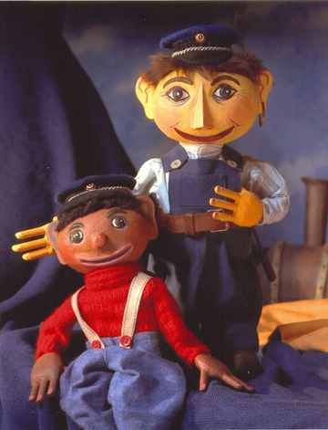 Jim Knopf und Lukas der Lokomotivführer als Tischfiguren.